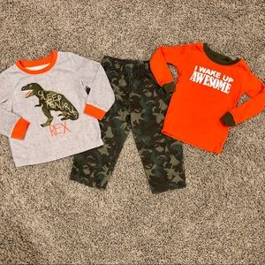5/$25, 3 piece fleece boys pajama set